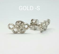 Серьги-пусеты «Олимпийские кольца» 70002