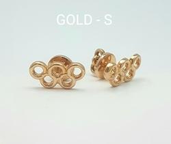 Серьги-пусеты «Олимпийские кольца» 70002Z