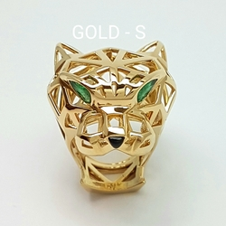 Кольцо «Голова пантеры» 10405