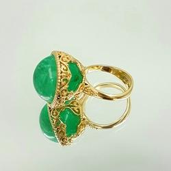 Кольцо «Изумрудный шар» 10263